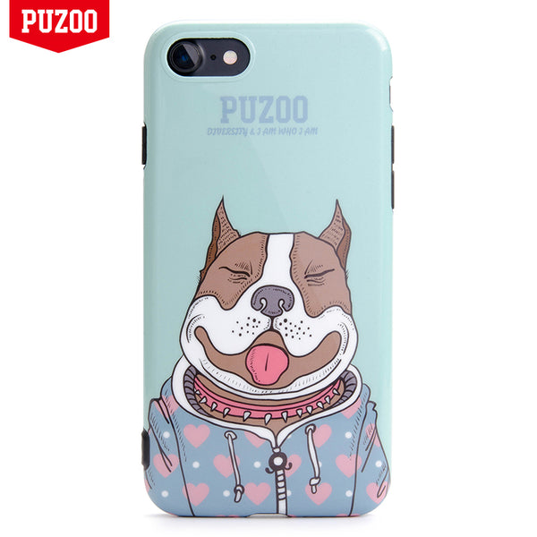 PUZOO Art Dog Series IMD Soft TPU Case Cover for Apple iPhone