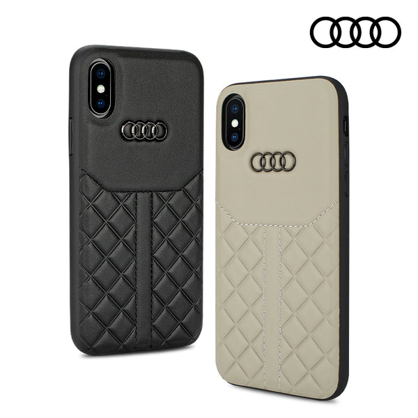 Audi Sport Q8 D1 Genuine Leather Back Cover Case