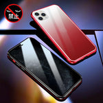 R-Just Magneto Aluminum Metal Bumper Anti-Spy Privacy Front+Back Tempered Glass Case Cover - Armor King Case