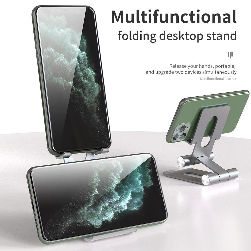 R-Just Aluminum Alloy Dual Axis Bracket Folding Destop Stand - Armor King Case