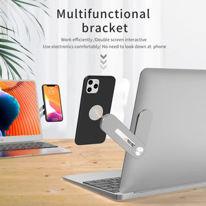 R-Just Aluminum Metal Multifunctional Bracket Notebook Expansion Phone Holder