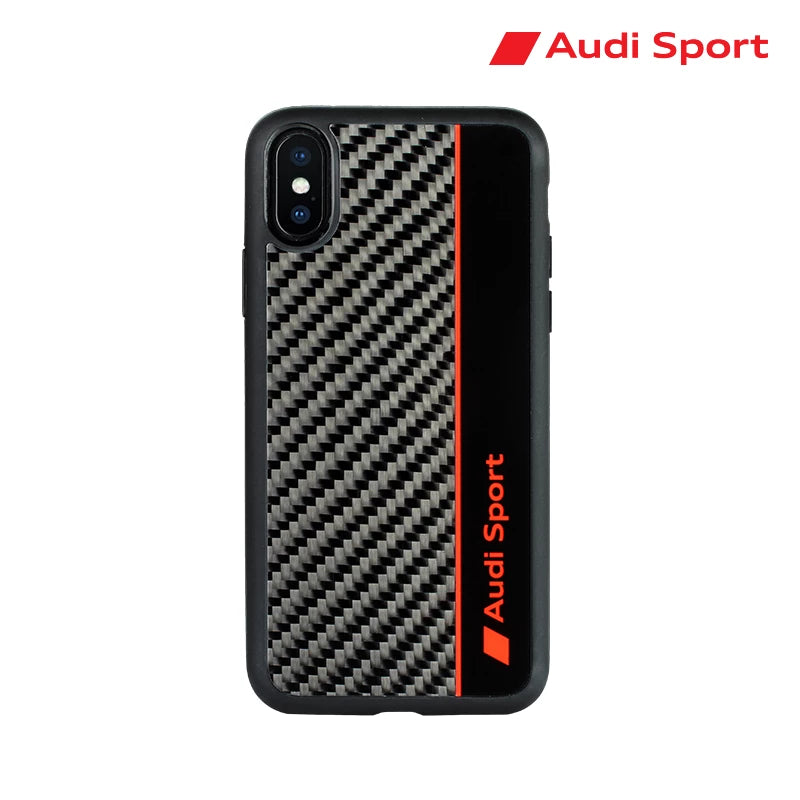 Audi Sport R8 D1 Genuine Carbon Fiber Back Cover Case for Apple iPhone XS/X
