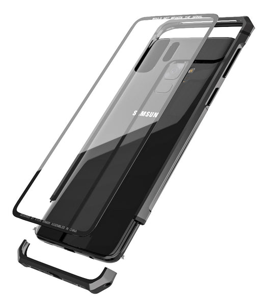 Kylin Armor Shockproof Scratch-resistant Aluminum Bumper Tempered Glass Cover Case
