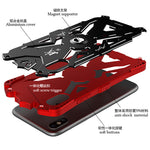 SIMON THOR Magnetic Bracket Aviation Aluminum Shockproof Rugged Metal Case Cover for Apple iPhone