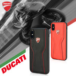 Ducati Superbike D6 Genuine Leather Hard Back Cover Case for Apple iPhone