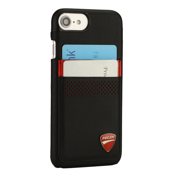 Ducati Superbike D3 Genuine Leather Hard Back Cover Case for Apple iPhone 8/7