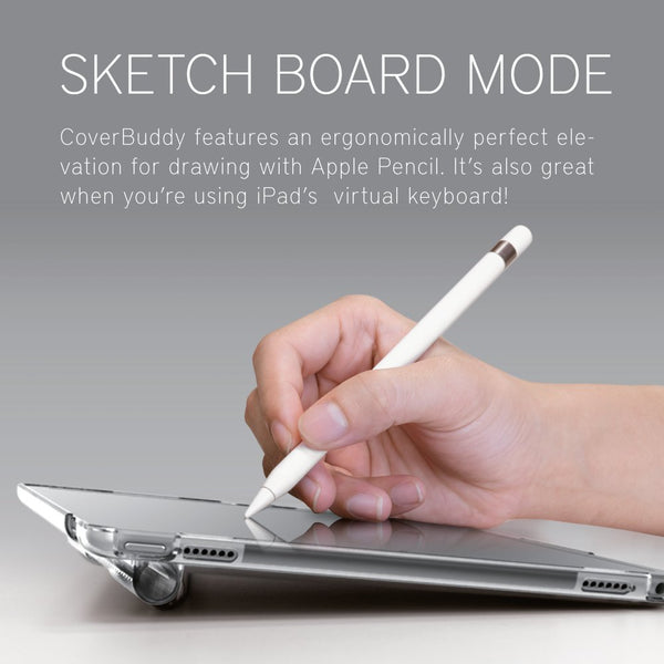 best service 07600 ce8cb SwitchEasy CoverBuddy Pencil Holder Hard Polycarbonate Back Cover Case for  Apple iPad