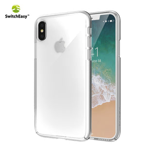 SwitchEasy AirBarrier Nude Crystal Clear PC Case Cover for Apple iPhone XS/X/8 Plus/7