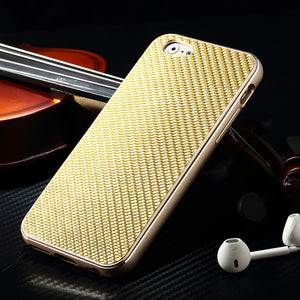 iMatch Luxury Aluminum Metal Bumper Carbon Fiber Back Cover Case - Armor King Case