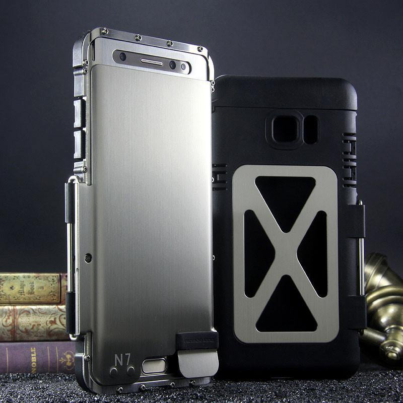 Armor King Iron Man Luxury Shockproof Stainless Steel Aluminum Metal Flip Case Cover - Armor King Case