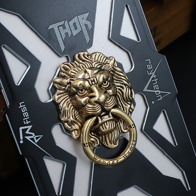 ZIMON Lion King Anti-drop Full Metal Finger Ring Grip Phone Holder