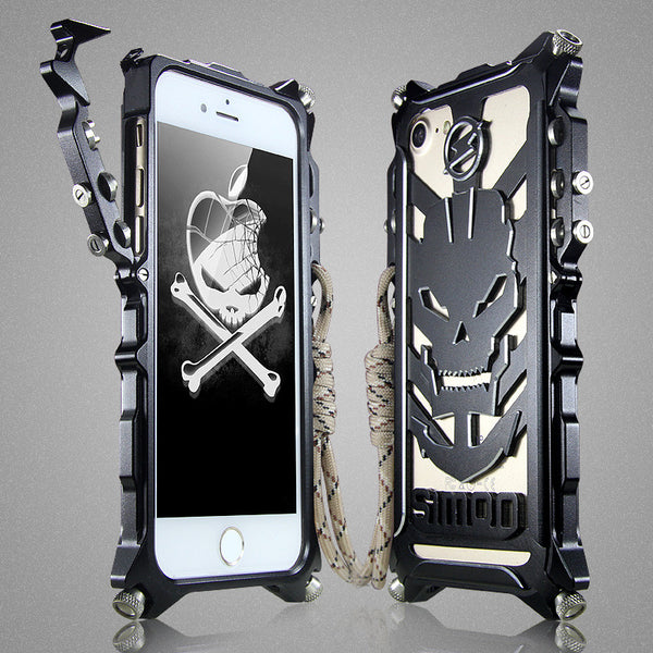 SIMON Mechanical Arm Skull Punk Premium Aluminum Metal Bumper Shockproof Case Cover