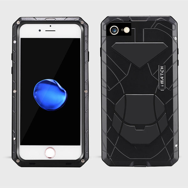iMatch Water Resistant Shockproof Military Heavy Duty Metal Case Cover
