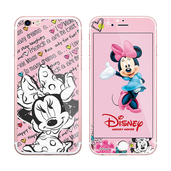 X-Doria Disney 9H Tempered Glass Screen Protector w/ Back Film for Apple iPhone 6S Plus/6S/6