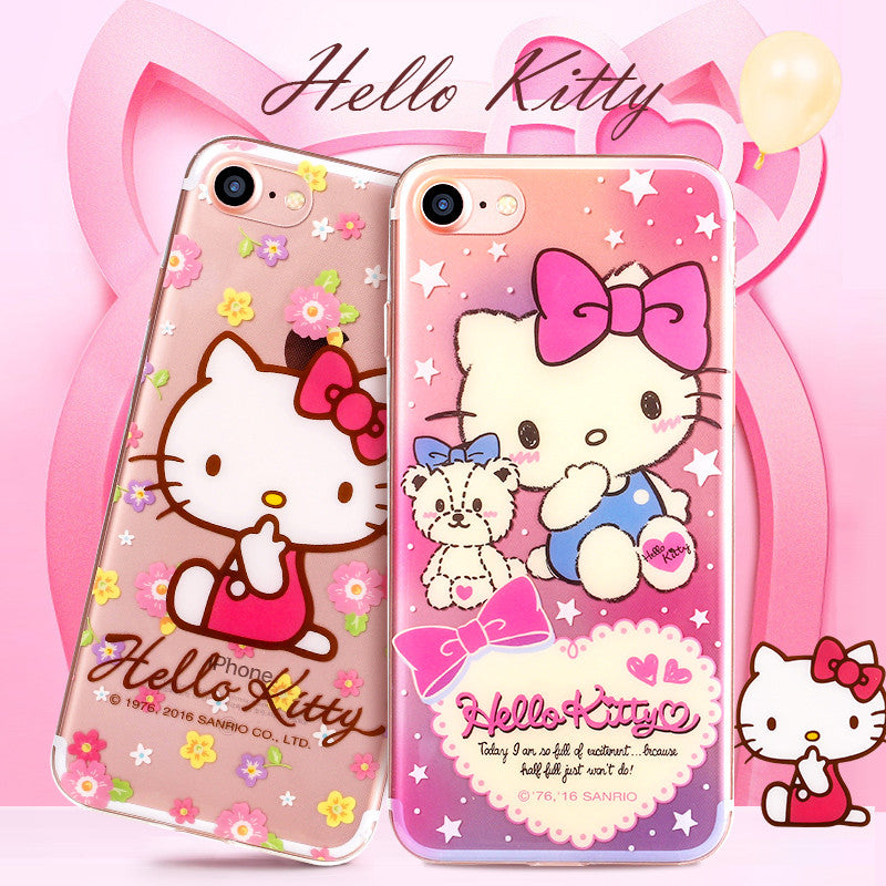 GARMMA Hello Kitty & My Melody & Little Twin Stars Transparent Soft TPU Case Cover