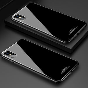 iy Crystal Steel TPU Frame Anti-scratch 9H Toughened Glass Back Cover Case