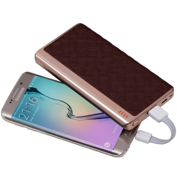 MOMAX iPower Elite+ AutoMax 1-Take USB External Battery Quick Charge Genuine Leather Power Bank