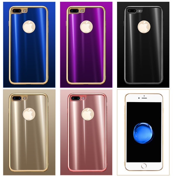 iy Dazzle Color Electroplating Soft Silicone TPU Back Cover Case