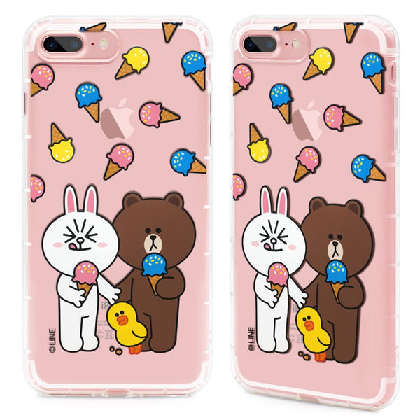 GARMMA X Line Friends Air Cushion Shockproof Transparent TPU Soft Back Cover Case