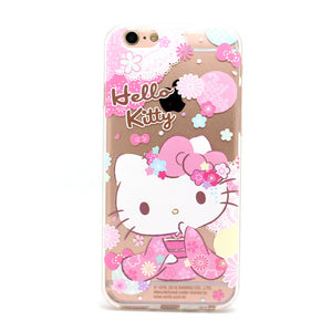 Hello Kitty Kimono Transparent Soft Back Cover Case for Apple iPhone XS/8 Plus/7 Plus/7
