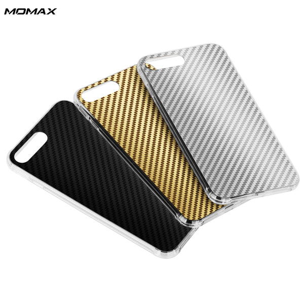 MOMAX Carbon F1 Anti Shock Air Cusion PET+TPU Case Cover with Magic Band for Apple iPhone