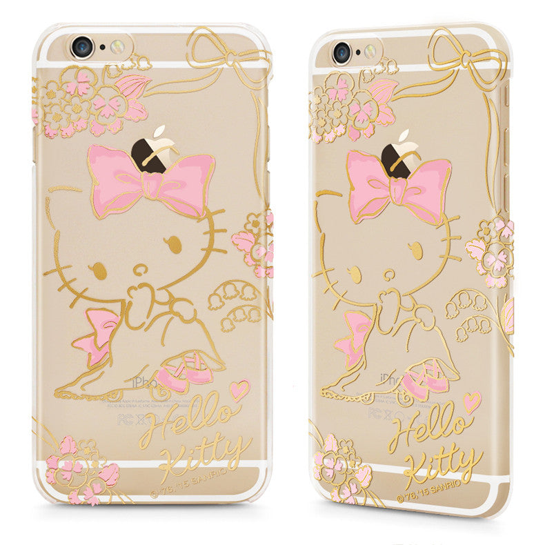 GARMMA Hello Kitty Slim Transparent PC Hard Back Cover Case for Apple iPhone 8 Plus/8/7 Plus/7