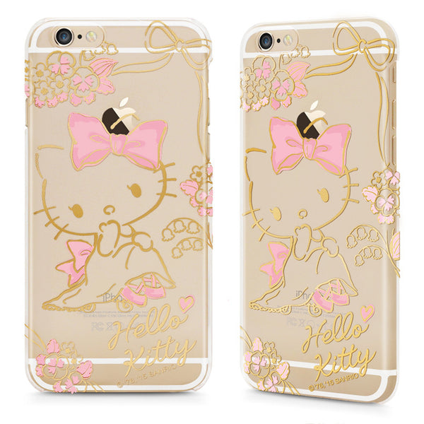 GARMMA Hello Kitty Slim Transparent PC Hard Back Cover Case for Apple iPhone 8/7