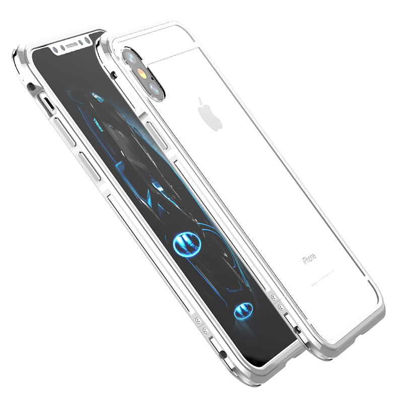 iy Bicolor Aurora Aluminum Metal Bumper Scratch Resistant Transparent PC Case Cover