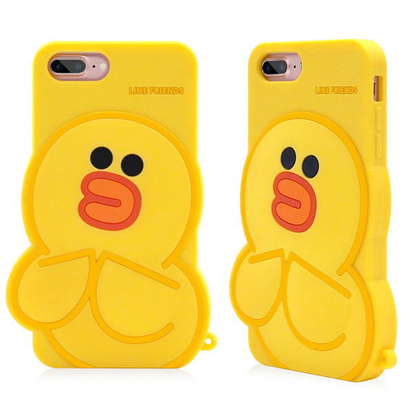 GARMMA Line Friends Silicone Back Cover Case for Apple iPhone