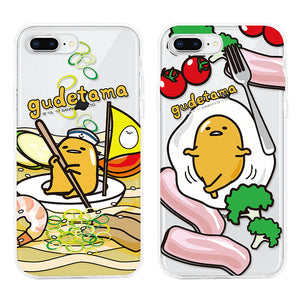 GARMMA gudetama Shockproof Air Barrier Transparent TPU Soft Back Cover Case
