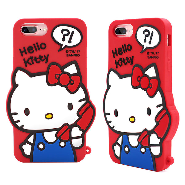 buy popular 85fe5 628b1 GARMMA Hello Kitty Shockproof Silicone Back Cover Case for Apple iPhone