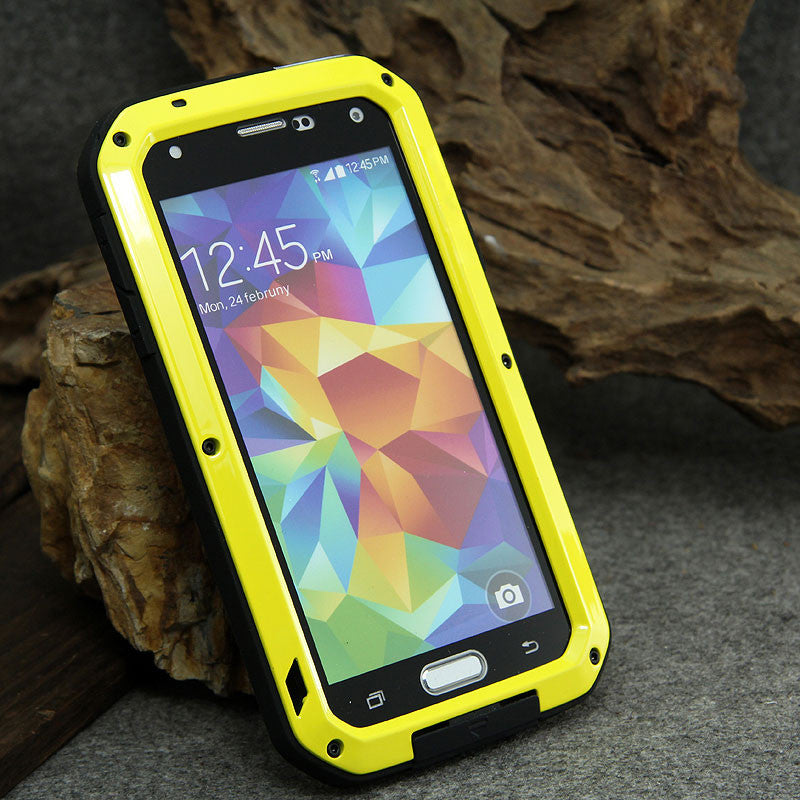 LOVE MEI Powerful Shockproof Metal Heavy Duty Case Cover for Android Smartphones
