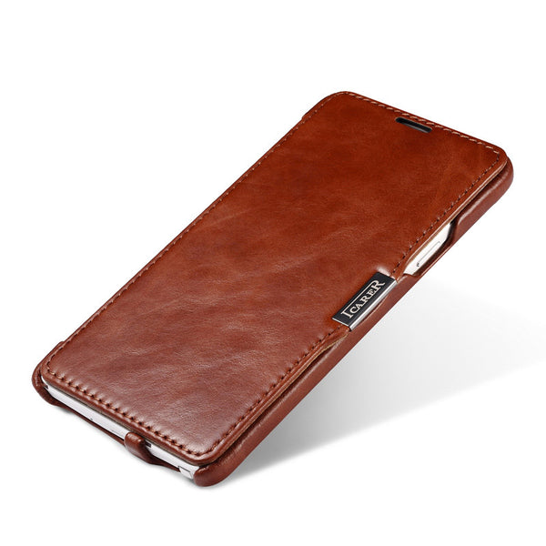 iCarer Vintage Series Side Open Handmade Genuine Cowhide Leather Case Cover