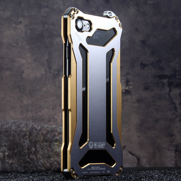 R-Just Gundam Aerospace Aluminum Contrast Color Shockproof Metal Shell  Outdoor Protection Case a74001258fcc