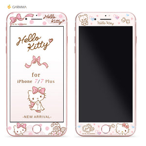 GARMMA Hello Kitty 3D Glitter 9H Hardness Tempered Glass Screen Protector for Apple iPhone