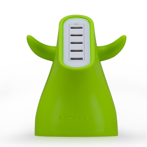 MOMAX U.Bull AutoMax Ultra Fast 5-port USB Charger for Smartphone & Tablet