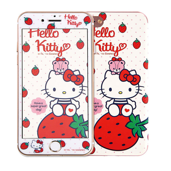 the latest e5efa 21bfb Hello Kitty Wicked 3D Glitter 9H Tempered Glass Screen Protector w/ Back  Film for iPhone 8 Plus/8/7 Plus/7