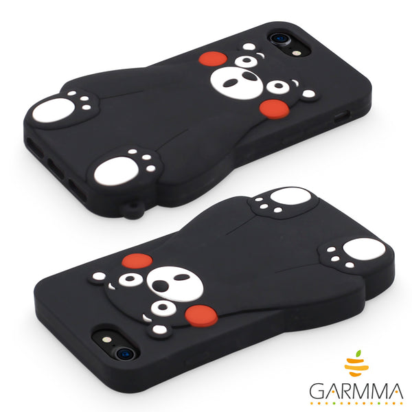 GARMMA Kumamon Dullness Shockproof Silicone Case for Apple iPhone 8 Plus/8/7 Plus/6S Plus/7/6S/6