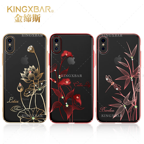 KINGXBAR Swarovski Diamond Transparent Hard PC Case Cover