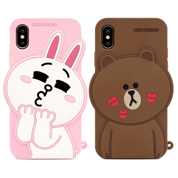 check out 25814 a19ab GARMMA Line Friends Silicone Back Cover Case for Apple iPhone