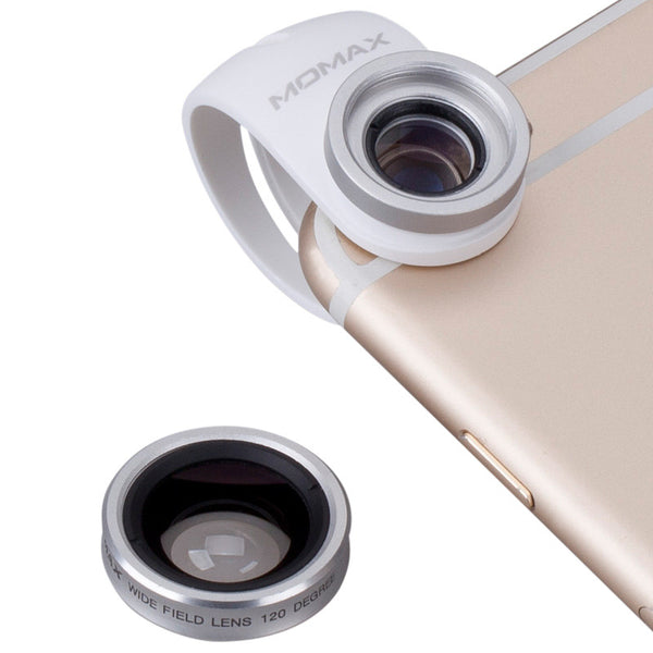 MOMAX X-Lens Macro + Wide-angle + Fisheye + CPL + Telephoto Clip-on Camera Lens