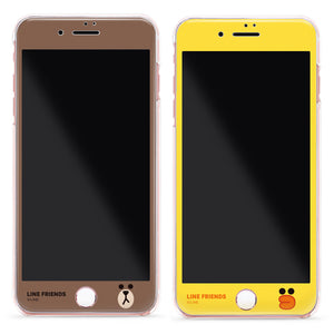 GARMMA Line Friends Full Size Glitter 9H Tempered Glass Screen Protector for Apple iPhone 8/7 Plus/7