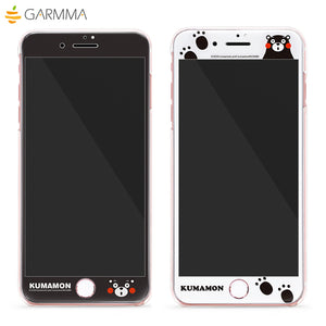 GARMMA Kumamon Full Size Glitter 9H Tempered Glass Screen Protector for Apple iPhone