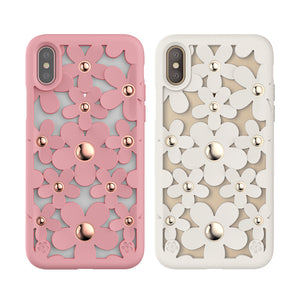 SwitchEasy Fleur 3D Flowers Protective TPU Case w/ Native Touch Buttons for Apple iPhone