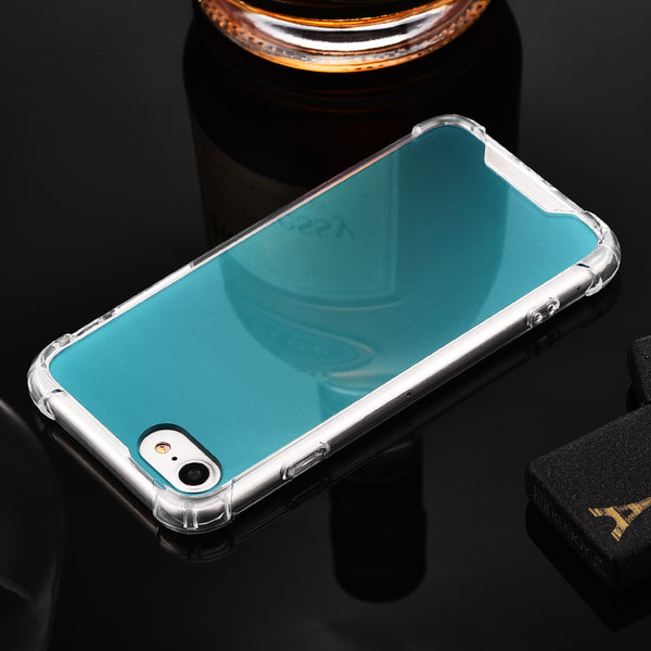 iy Soft Clear Flexible TPU Dazzle PC Extremely Shockproof Air Cushion Case Cover