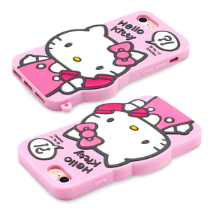 GARMMA Hello Kitty Shockproof Silicone Back Cover Case for Apple iPhone