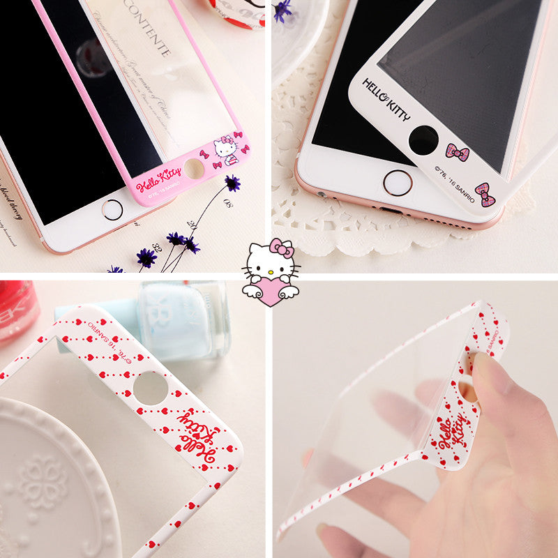 X-Doria Hello Kitty 3D Full Size 9H Tempered Glass Screen Protector for iPhone 6S Plus/6 Plus/6S/6