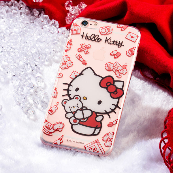 X-Doria Hello Kitty Transparent TPU Soft Cover Case for Apple iPhone 6S Plus/6 Plus/iPhone 6S/6