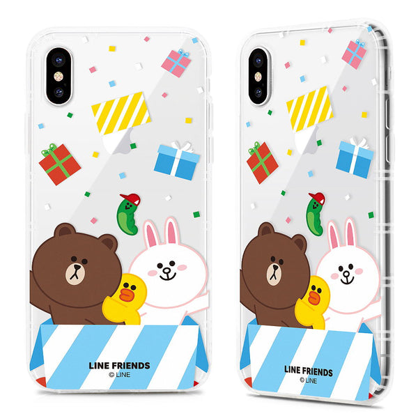 GARMMA Line Friends Air Cushion Transparent TPU Soft Case for Apple iPhone