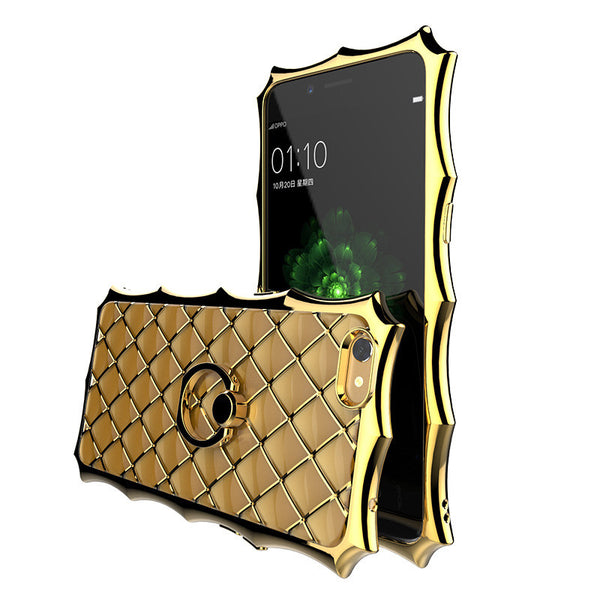 SIMON Crown Luxury Royal Electroplating Soft TPU Case Cover with Ring Grip